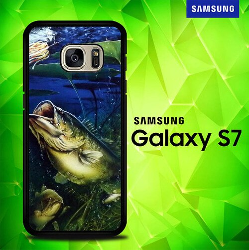 Bass Fishing Largemouth Fish P1338 coque Samsung Galaxy S7