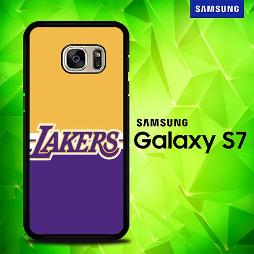 Lakers Yellow Purple P1593 coque Samsung Galaxy S7