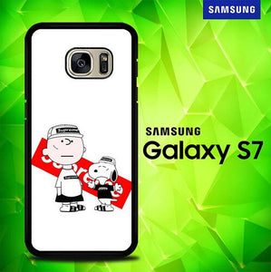 Snoopy Charlie Brown x Supreme P1639 coque Samsung Galaxy S7