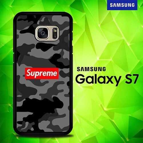 Supreme Grey Camo P1670 coque Samsung Galaxy S7