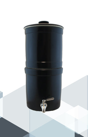 Terra2™ Black Stoneware Gravity Filter System