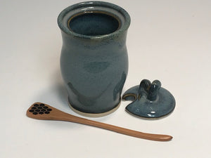 Honey Pot with Wood Dipper