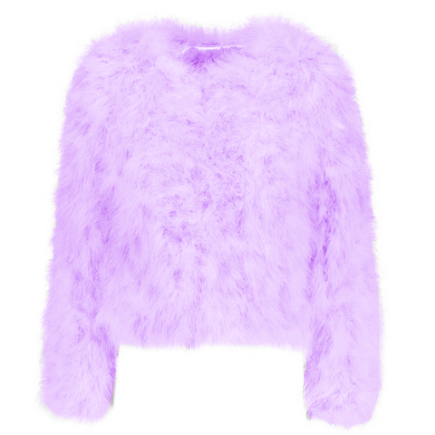 Hepburn - Ostrich Feather Coat - Lavender