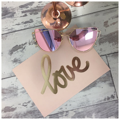 Rose Gold Sun Glasses