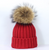 Large Pompom Hat - Red Wine