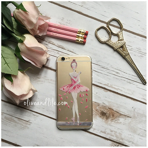 Ballerina Illustration: Facing - Phone Case (iPhone 6)
