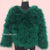 Hepburn - Ostrich Feather Coat - Bottle Green