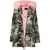 Autumn Falls - Camouflage Pink Fully Lined Parka Jacket