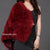Hepburn - Ostrich Feather Coat - Red Wine