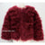 Hepburn - Ostrich Feather Coat - Red Wine ( pre order)