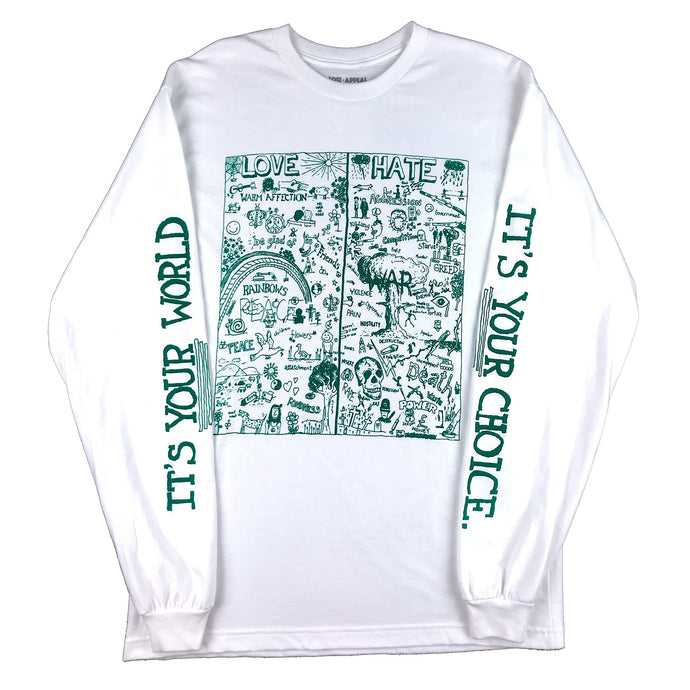 LOVE/HATE LONGSLEEVE (white)