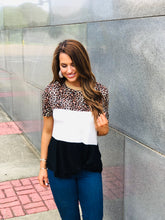 Load image into Gallery viewer, Color Blocked Animal Print Tee
