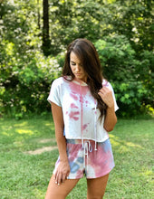 Load image into Gallery viewer, Tie Dye Short Sleeve Hoodie and Short Set