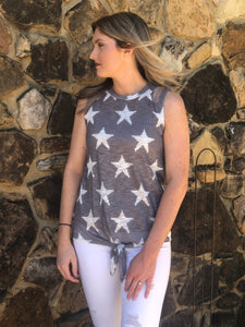 Star Print Knit Top