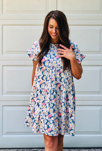 Blooming Floral Print Dress