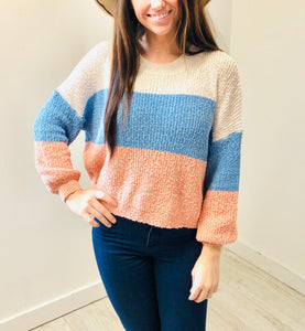 Color Block Knit Top