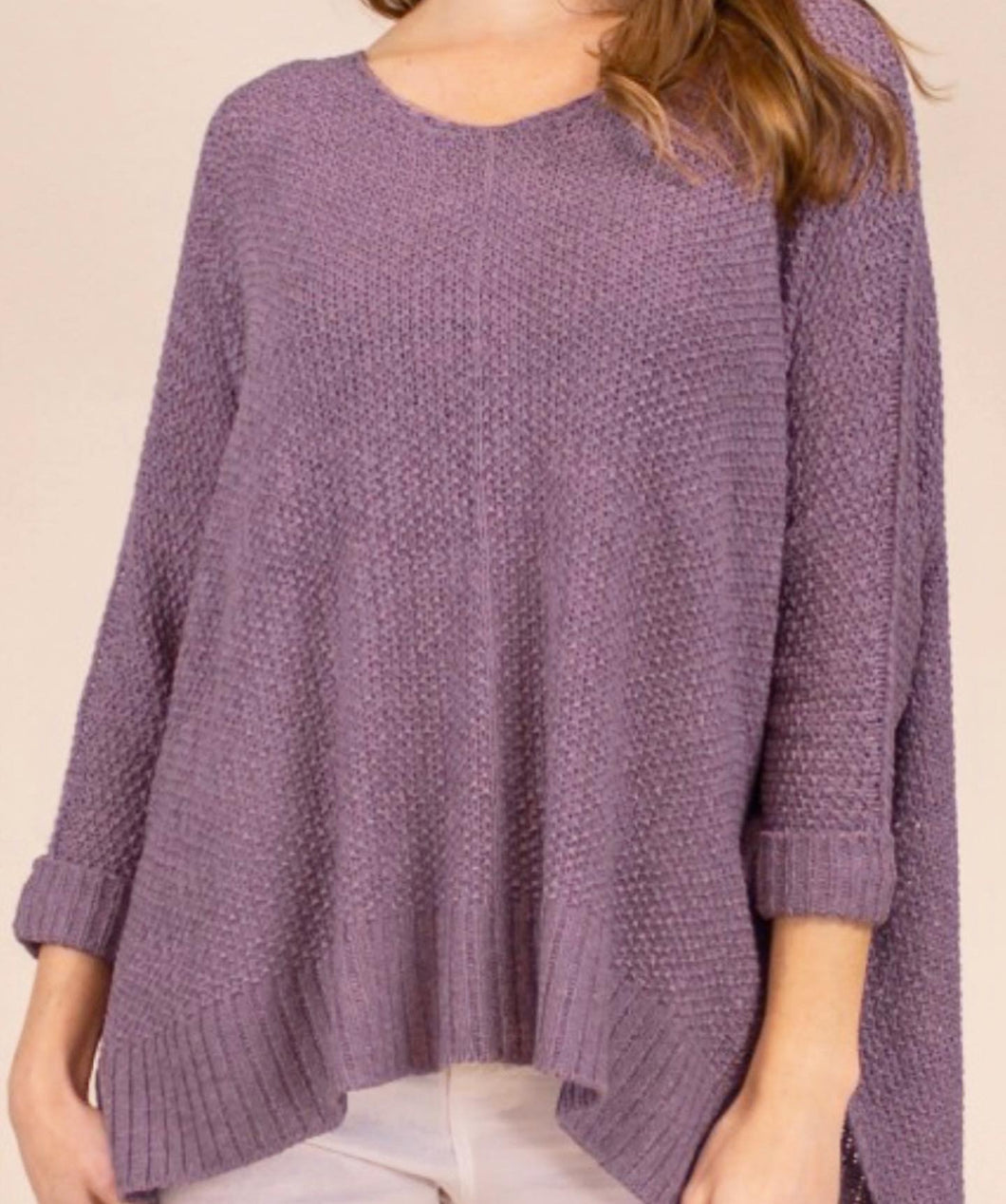 3/4 Sleeve Pullover Sweater