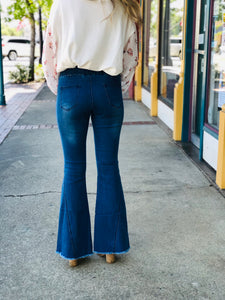 Distressed Bell Bottom Pants