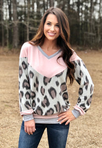 Animal Print Oatmeal Top