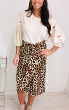 Load image into Gallery viewer, Leopard Print Midi Wrap Skirt
