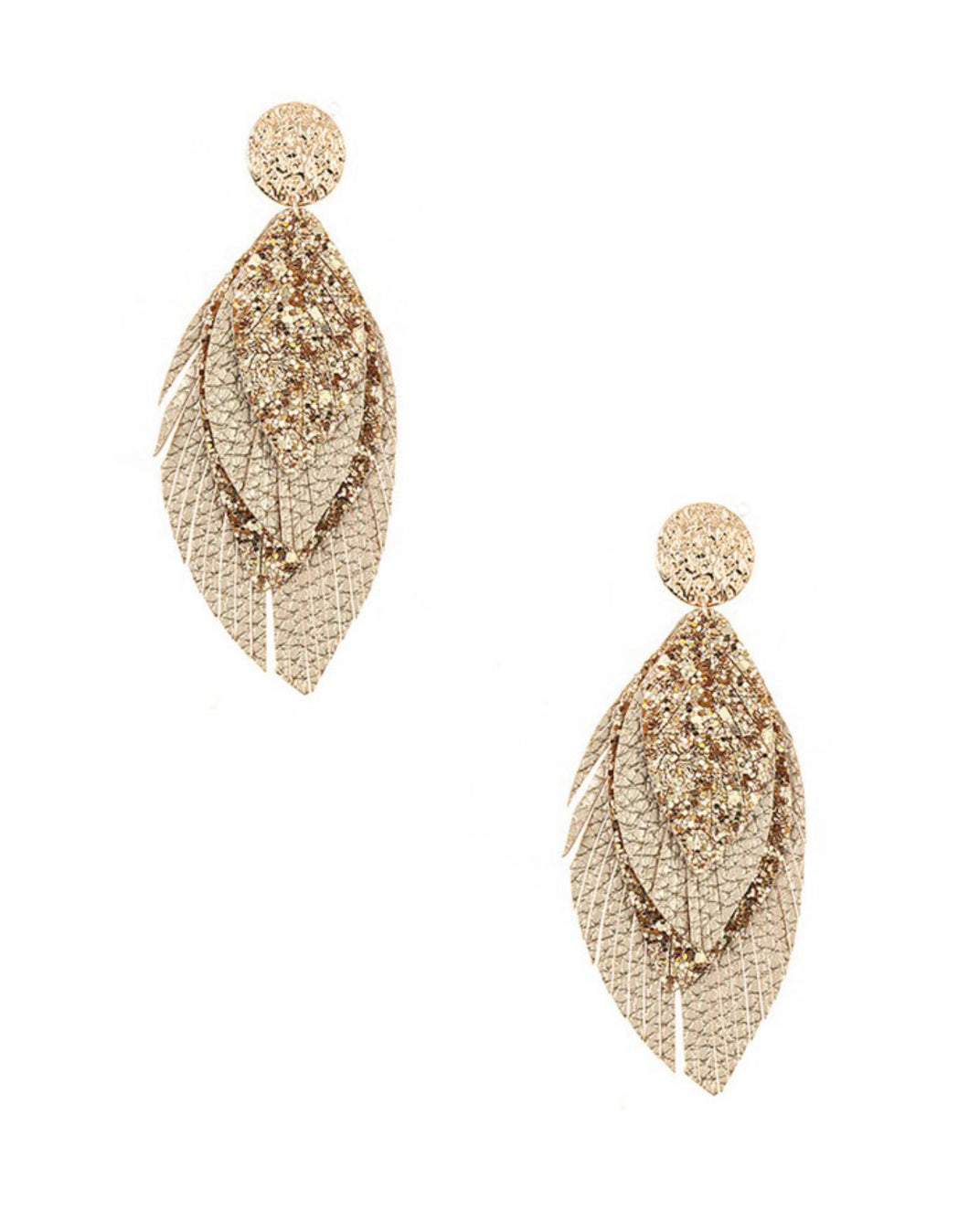 Multi Leaf Fringe Drop Earring