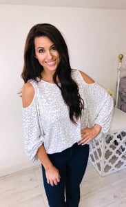Cold Shoulder Leopard Top