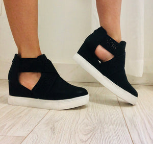 Criss-Cross Sneaker Wedges