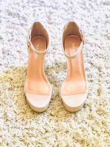 Clear Strap Heel-Nude
