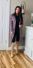 Load image into Gallery viewer, Leopard Print Open Front Pocketed Cardigan