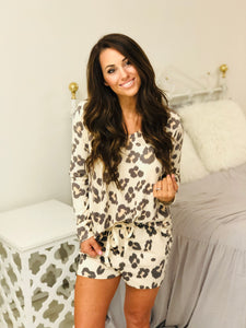 Leopard Print Lounge Set
