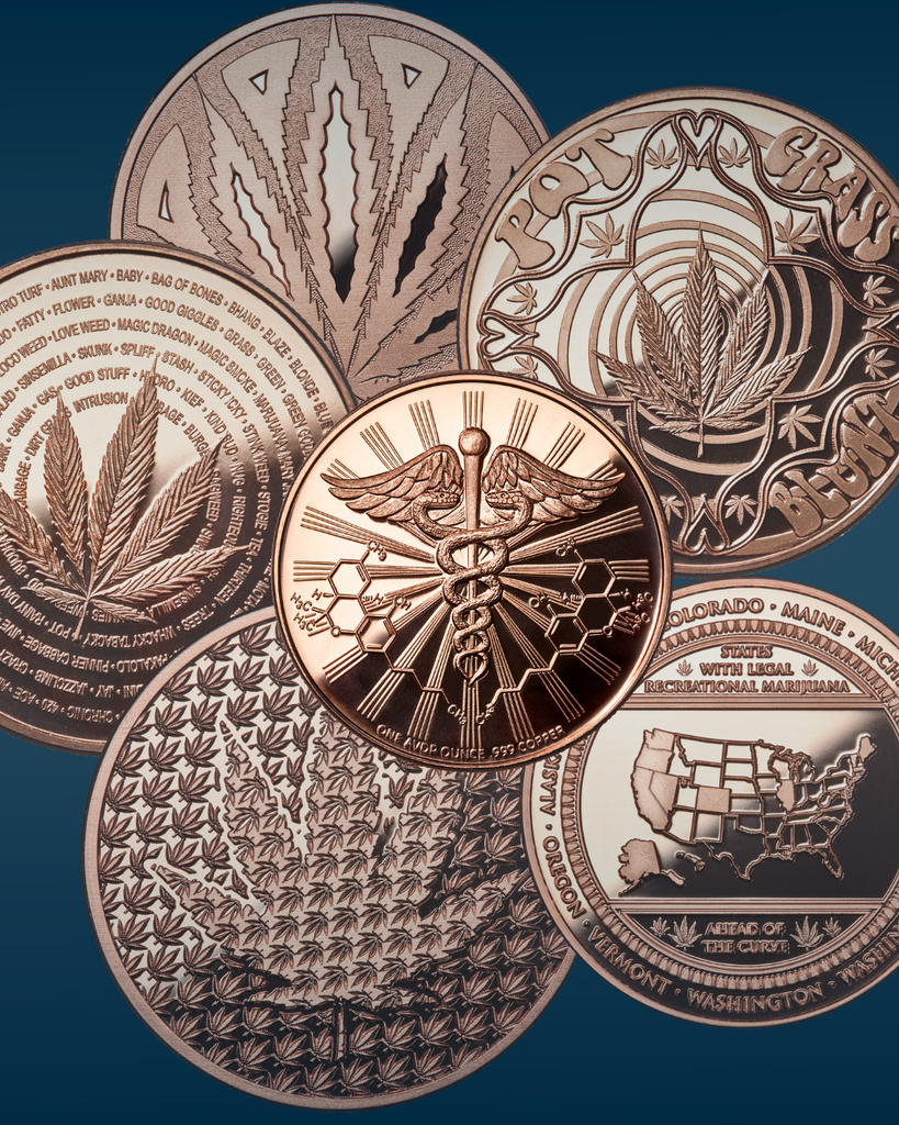 Copper Cannabis Coin Collection