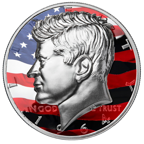 1964 Colorized Kennedy Half Dollar