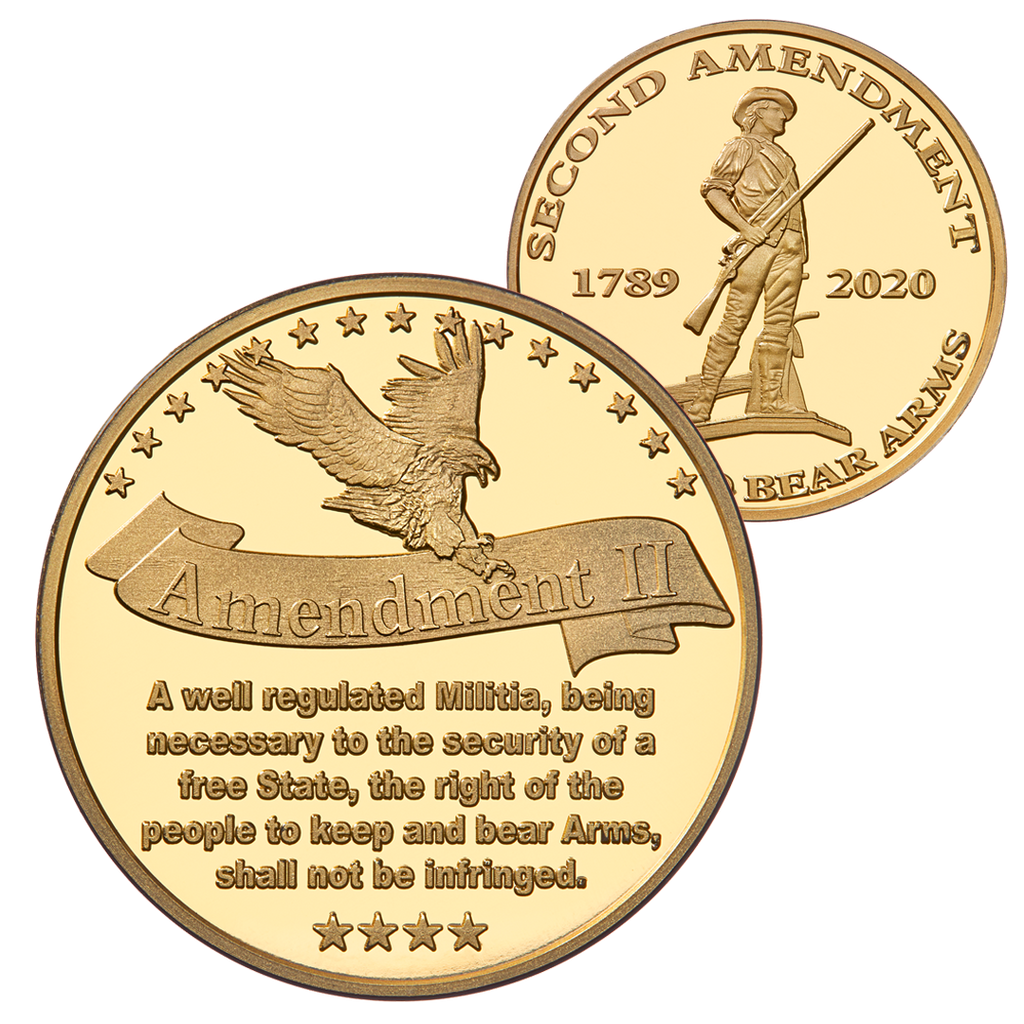Second Amendment Coin - Brass