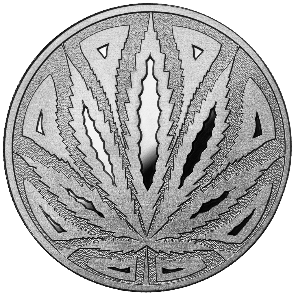 Big Leaf Hidden Leaf Solid Silver Collectors Coin
