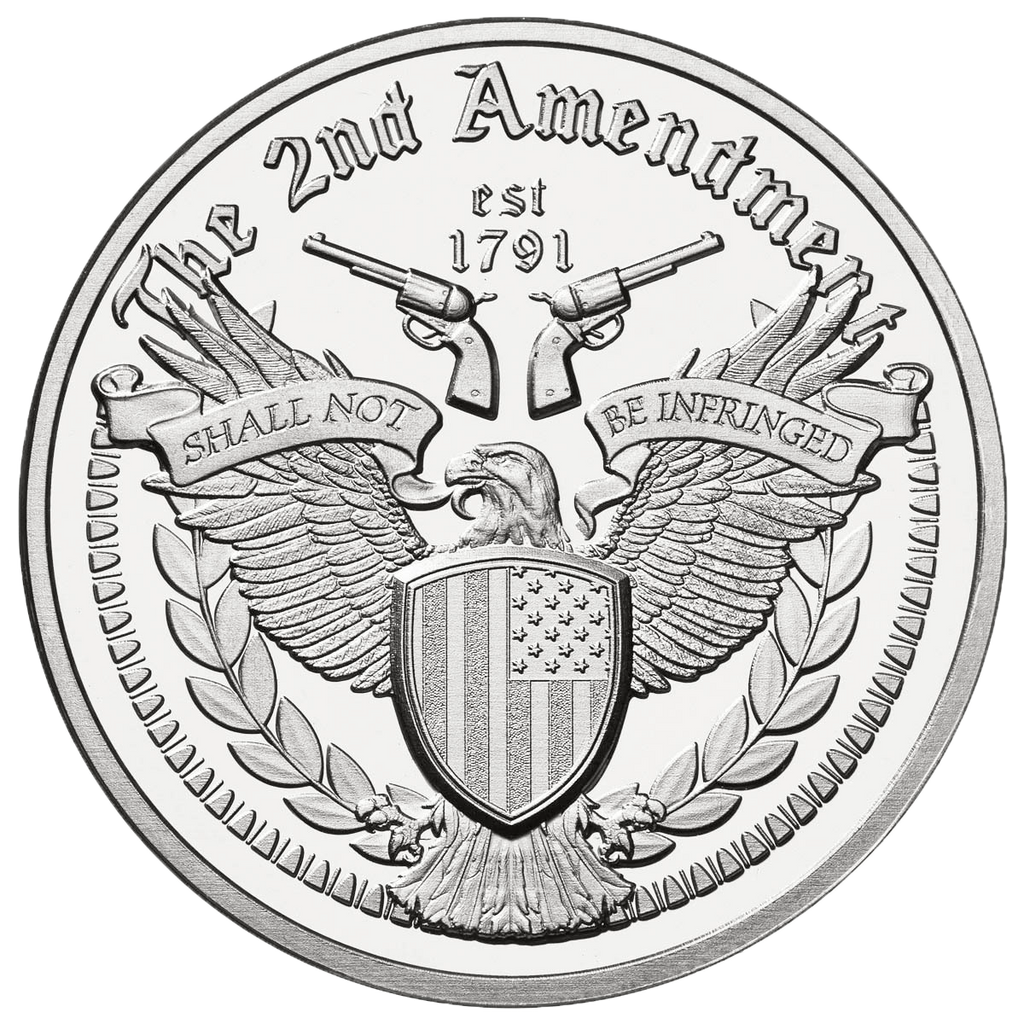 Second Amendment Eagle - Solid Silver Round