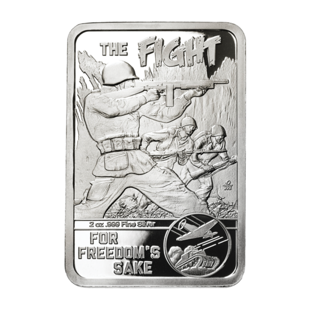 For Your Country's Sake Today, 2 ounce solid silver bar
