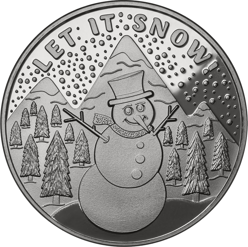 Let It Snow - Snowman .999 Fine Silver