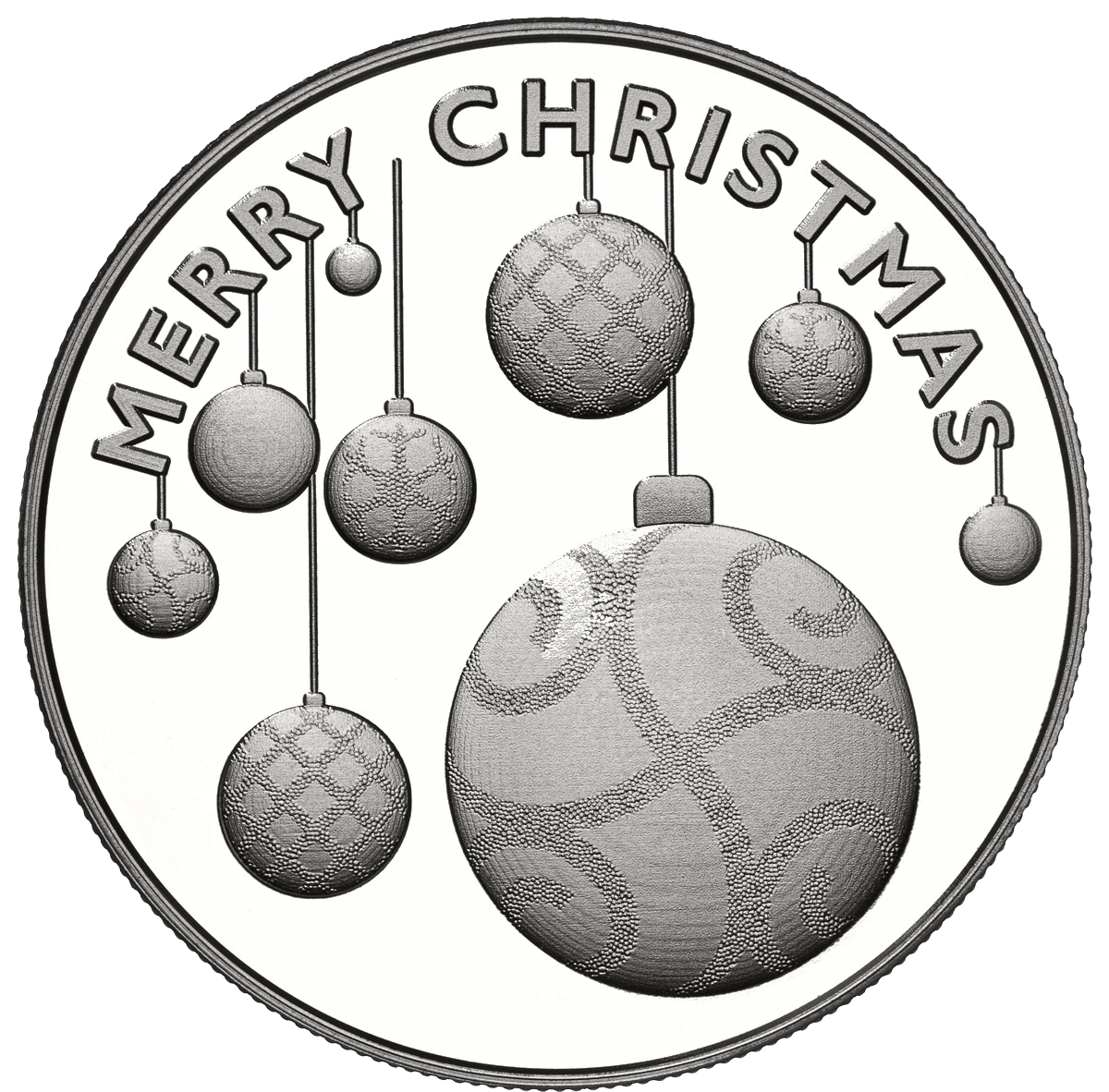Holiday Ornaments .999 Fine Silver Round (2020)