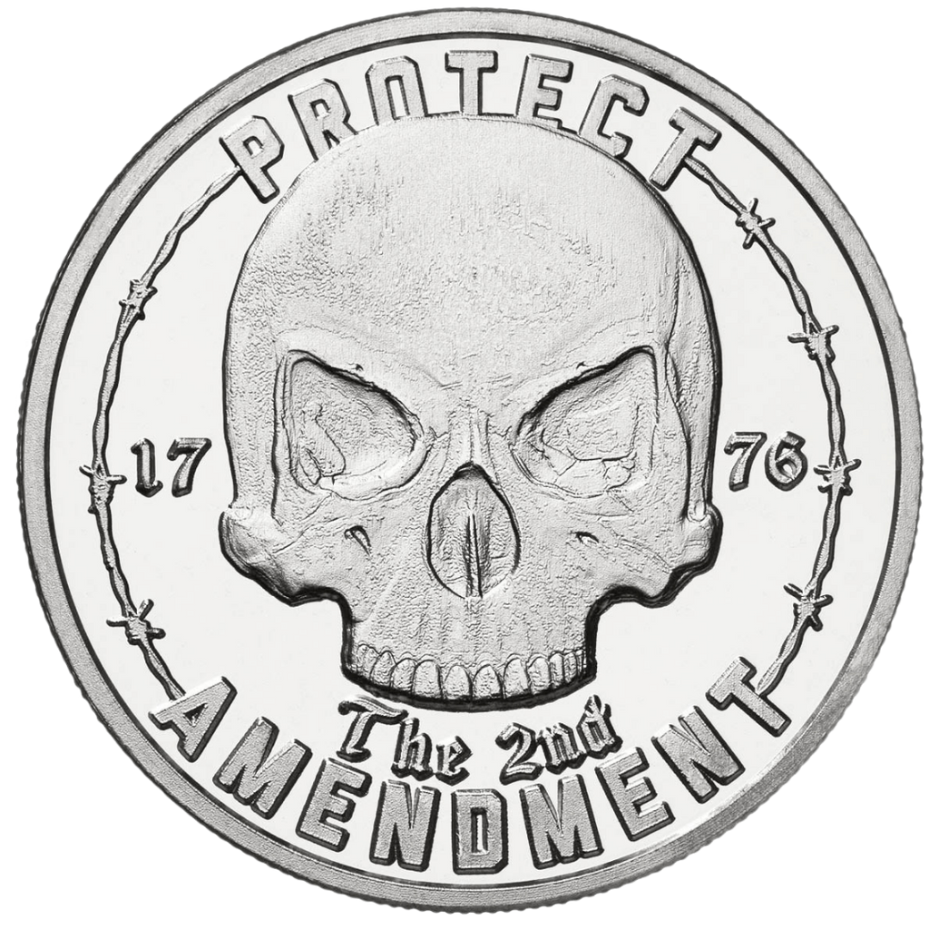 1776 Skull - Solid Silver Round