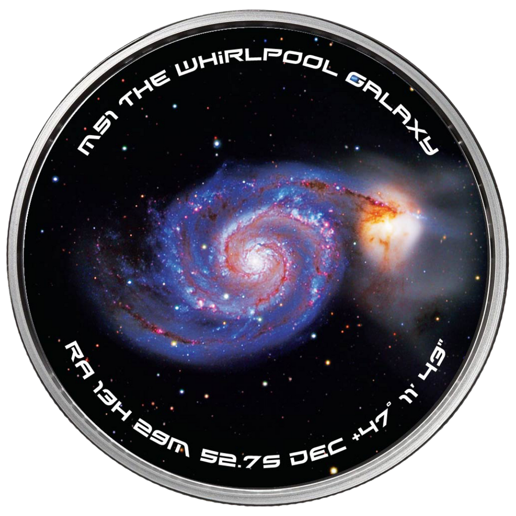 The Whirlpool Galaxy Solid Silver Spinner