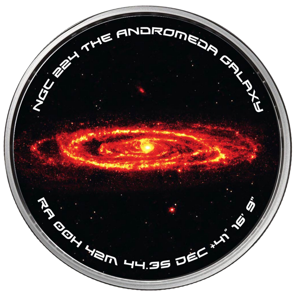 Andromeda Spiral Galaxy Solid Silver Spinner Collectible Round  - Now in Stock!