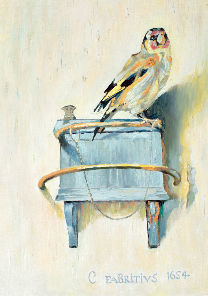 "The Goldfinch - for those who love Carel Fabritius painting or Donna Tartt""s novel."