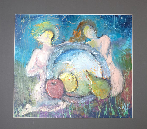 Virgins with a magic dish by Elvira Isaeva, 45cm*50cm, oil painting