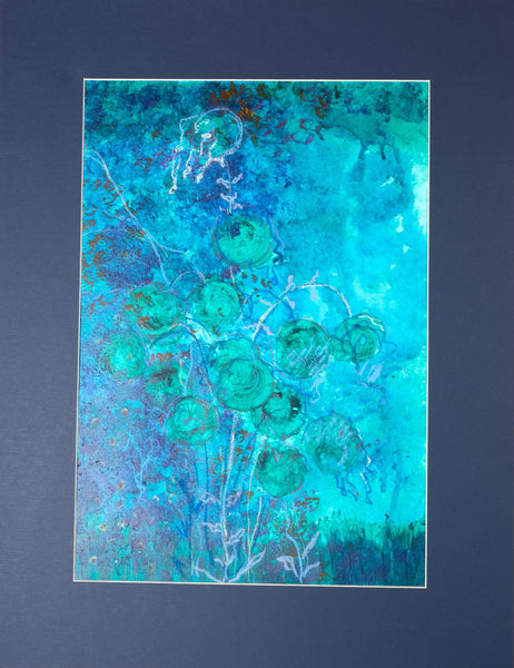 Riot of green by Vesna Simic, 42cm*55cm, mixed media