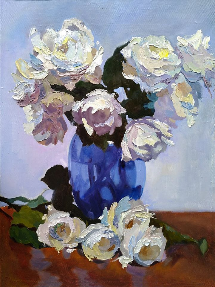 Roses by Inga Urkyavitchute, 30cm*40cm, oil painting