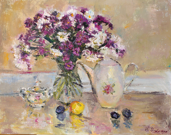 September flowers by Kristina Shestakova, 50cm * 40cm, oil painting