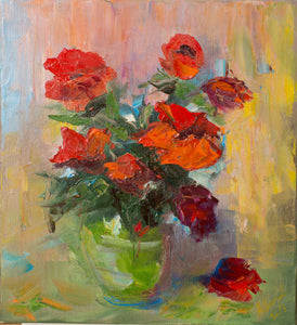 Bouquet by Michail Sakharov, 32cm * 30cm, oil painting