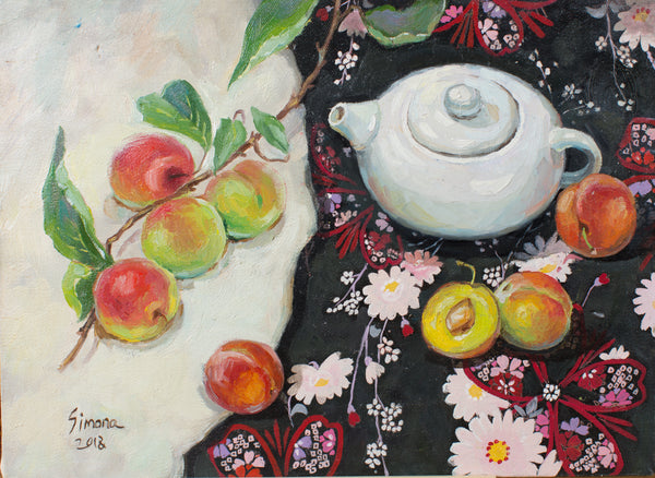 Japanese plum by Svetlana Simonenko, 30cm*40cm, oil painting