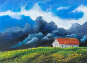 A thunderstorm is coming by Igor Kireev, 40cm*30cm, pastel drawing