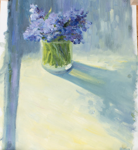 First flowers by Marina Senina, 40cm*30cm, oil painting